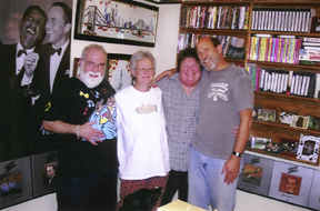 Butch Berman and friends in the BMF museum [File Photo]